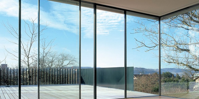 glass for doors with big size