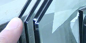 polished flat glass edge