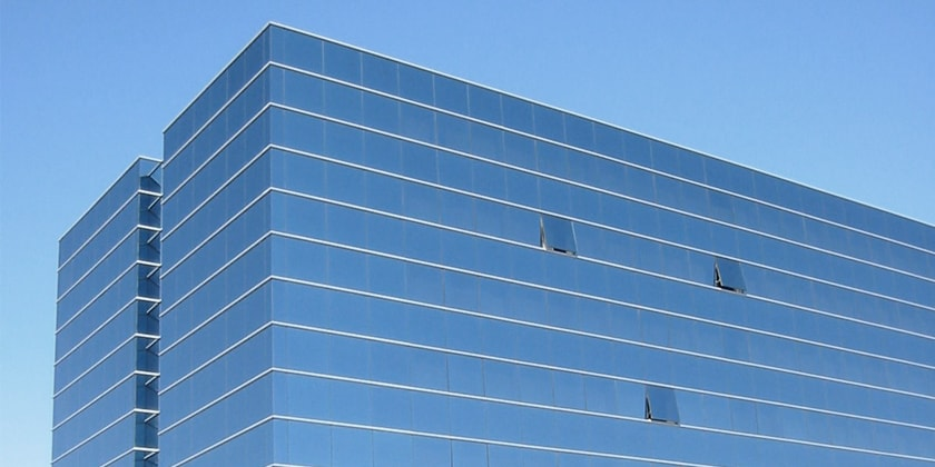 Glass For Curtain Wall Hangzhou Blue Sky Safety Glass