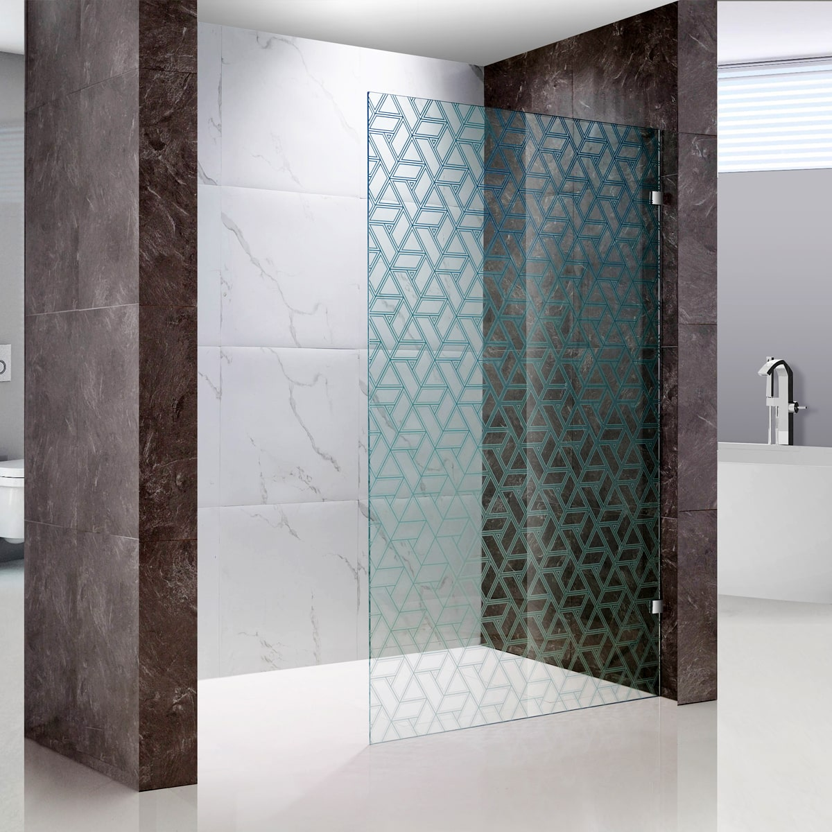 frosted glass partition for shower room