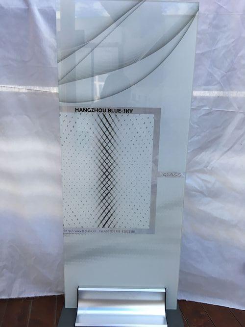 printed glass door