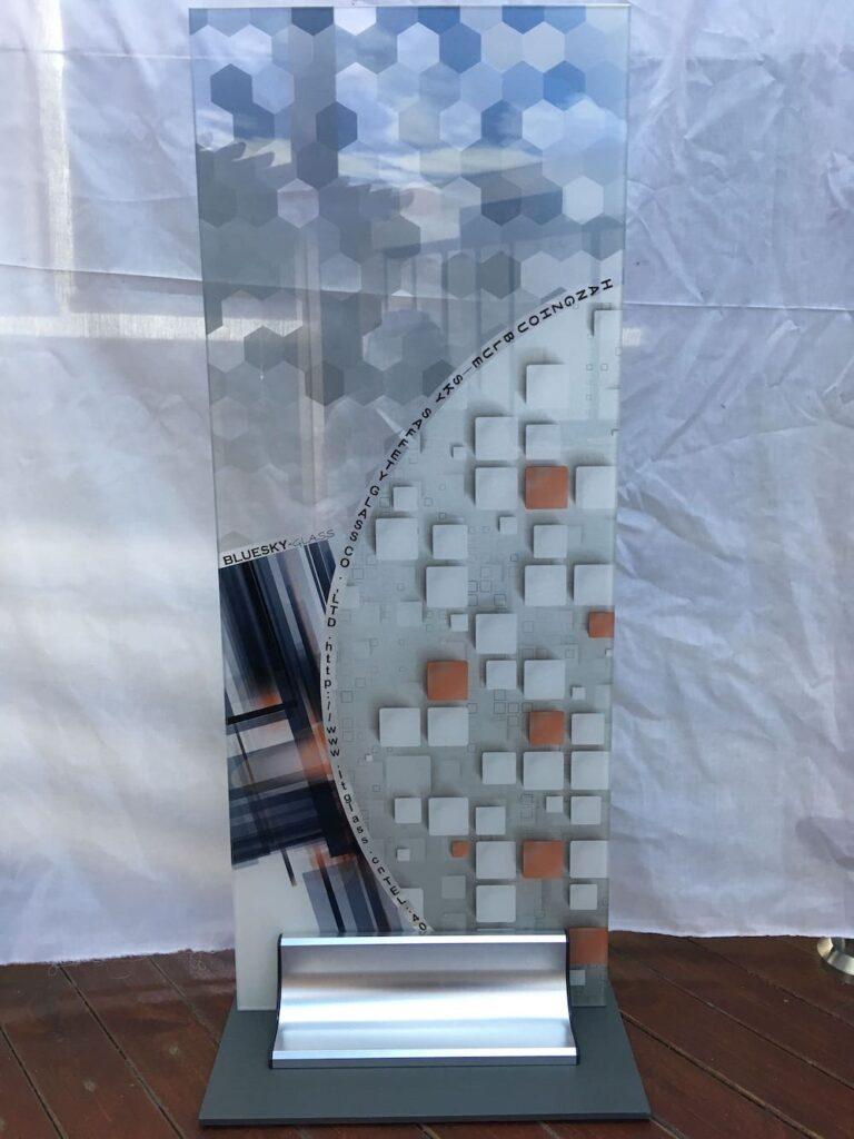 digital printed glass door